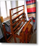 Traditional Weavers Loom Metal Print