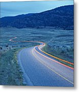 Traffic At Dusk Metal Print