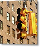 Traffic Signal Metal Print by Keith McInnes Photography