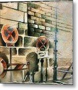 Traffic Signs In Dusseldorf 1982 Metal Print by Glenn Bautista