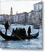 Traghetto . Gran Canal. Venice Metal Print by Bernard Jaubert