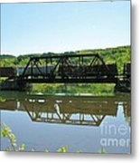 Train And Trestle Metal Print