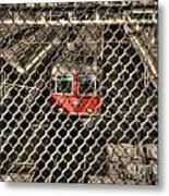 Train Behind A Fence Metal Print