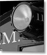 Train Headlight Metal Print
