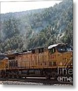 Train In Spanish Fork Canyon Metal Print
