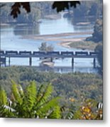 Train On The Mississippi Metal Print