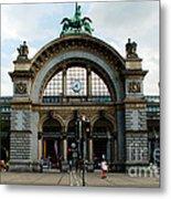 Train Station At Lucerne Metal Print