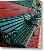 Train Station Waiting Area Metal Print