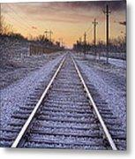 Train Tracks And Color 2 Metal Print