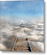 Train Tracks Into The Clouds Metal Print