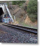 Train Tunnel At The Muir Trestle In Martinez California . 7d10228 Metal Print by Wingsdomain Art and Photography