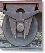 Train Wheel Metal Print