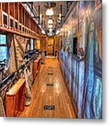 Trains - Post Office Mail Sorting Rail Car Inside I Metal Print