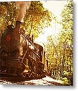 Trains A Coming Metal Print