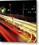Trajectory Of Light(national Route No.24) Metal Print