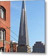 Transamerica Pyramid Tower In San Francisco . 7d7376 Metal Print