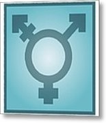Transgender Symbol, Artwork Metal Print