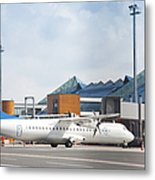Transport Plane At The Airport Metal Print