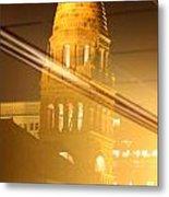 Transposed Tower Metal Print