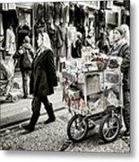 Traveling Vendor Metal Print