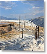 Travertine Limestone Terraces Metal Print