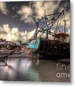 Trawler At New Quay Metal Print
