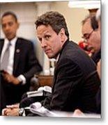 Treasury Secretary Timothy Geithner Metal Print