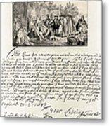 Treaty Between William Penn Metal Print