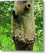 Tree Face Metal Print