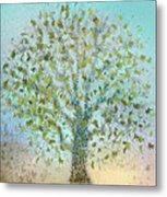 Tree In Autumn Metal Print