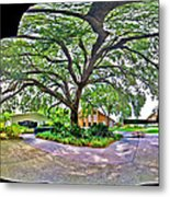 Tree In Church Yard Metal Print