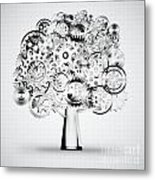 Tree Of Industrial Metal Print by Setsiri Silapasuwanchai