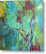 Tree Of Winding Color Metal Print