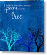 Tree Poem Metal Print