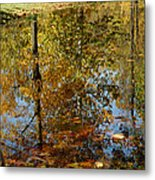 Tree River Reflections Metal Print
