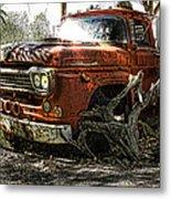 Tree Truck Metal Print by Peter Chilelli