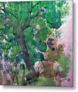 Tree.cohen And Me Metal Print by Peter Edward Green