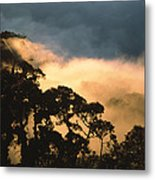 Trees And Mountaintops Above The Clouds Metal Print