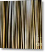 Trees In A Forest Blurred Metal Print