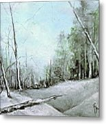 Trees In Winter #2 Metal Print by Robin Miller-Bookhout