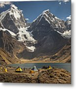Trekkers Camp Near Carhuacocha Lake Metal Print