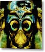 Tribal Mask Metal Print