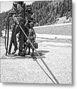 Tribute To The Mining Family - Wallace Idaho Metal Print