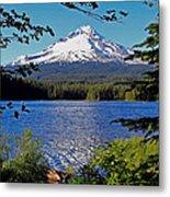 Trillium Lake At Mt. Hood II Metal Print