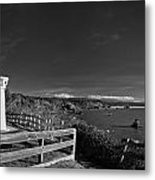 Trinidad Memorial Lighthouse In Black And White Metal Print