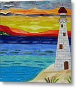 Trinity Lighthouse On The Bay Of Paradise Metal Print