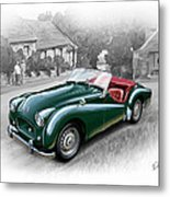 Triumph Tr-2 Sports Car Metal Print by David Kyte