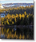 Trolling On Twin Lakes Metal Print