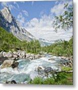 Trollstigen River Metal Print