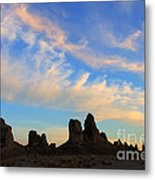 Trona Pinnacles At Sunset Metal Print
